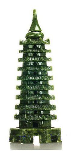 Tibetan Hand Carved Jade Pagoda Le Jade, Faberge Jewelry, Antique Jade, Tibetan Buddhism, Jade Jewelry, Fenton Glass, Jade Stone, Stone Carving, Chinese Art
