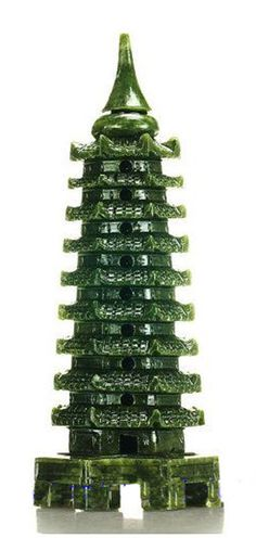 Tibetan Hand Carved Jade Pagoda