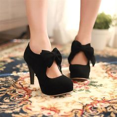 ENMAYER 2014 new vintage / retro style, woman small bowtie platform pumps, lady's sexy high heeled shoes