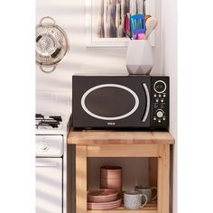RCA Retro Microwave ($109) ❤ liked on Polyvore featuring home, kitchen & dining, kitchen gadgets & tools and rca