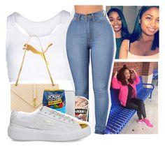"""""""Untitled #352"""" by kfashion757 ❤ liked on Polyvore featuring Puma, Yves Saint Laurent and Hard Candy"""