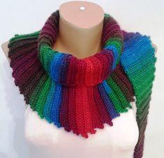 Scarf  Crochet Scarf  Multicolor Scarf US $29.00 by KNITANDCROCHETWORLD