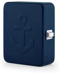 Amazon.com: Kikkerland Anchor Box, Blue: Home & Kitchen