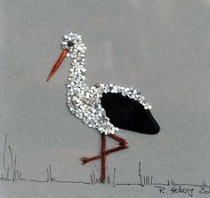 Image from pebbles kind of Pebble Stork framed by naturalblack