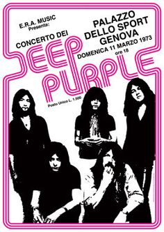 Deep Purple Concert Poster https://www.facebook.com/FromTheWaybackMachine