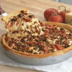 The Holy Bible of Recipes: Chicago Deep-Dish Sausage Pizza-since I don't eat pork substitutions will be required Quiches, Pizza Recipes, Cooking Recipes, Meat Recipes, Dinner Recipes, Deep Dish Pizza Recipe, Sauce Pizza, 17 Kpop, Sandwiches