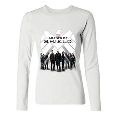 BONYA Women's 100% Cotton Marvel Television Agents of SHIELD Long Sleeve T-Shirts at Amazon Women's Clothing store: