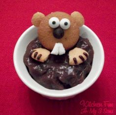 Groundhog Day Desserts - easy pudding cups