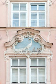 Parisian styled architecture in Pink
