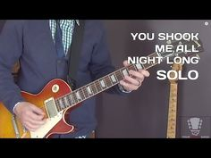 How to play You Shook Me All Night Long - Guitar Lesson Solo - YouTube