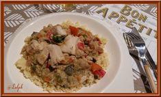 Pour ce tour Rapide de: Un tour en cuisine je devais piocher une recette chez Galinette, et c'est Chau7 qui viendra tester une de mes réalisations... J'ai un peu modifier la recette de Galinette en introduisant du poulet car je ne pouvais pas présenter...