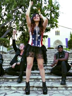 18) Favorite outfit of Can't Hold Us I absolutely love Kirstie's outfit. I always love Kirstie's outfits.