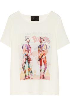 Lulu & Co|Printed silk top|NET-A-PORTER.COM