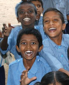 Kids at rural school in Andhra Pradesh, India