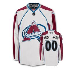 -Buy 100% official Reebok Men's Authentic White Jersey Customized NHL Colorado Avalanche Away Free Shipping.