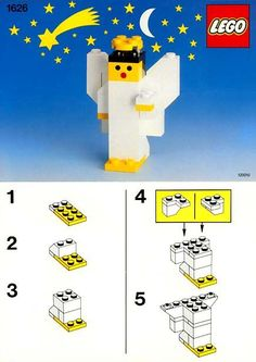 Thousands of complete step-by-step printable older LEGO® instructions for free. Here you can find step by step instructions for most LEGO® sets. Lego Duplo, Lego Advent Calendar, Legos, Lego Christmas Ornaments, Christmas Decor, Xmas, Lego Therapy, Lego Challenge, Lego Activities