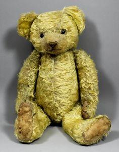 A 1920s teddy bear, 22ins overall Provenance : Bonham : Lot 714