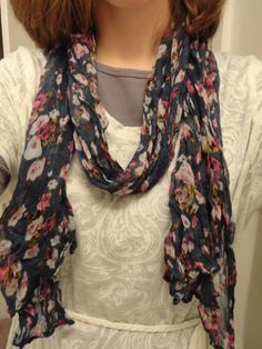 Do it yourself diy scarf necklace fashion jewelry pinterest 006g 12001600 pixels solutioingenieria Image collections