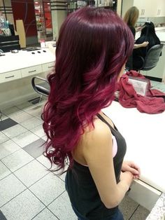 Violet/red to fuscia pink ombré done by Nancy! | Yelp