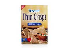 Triscuit Thin Crisps are the best! If you're trying to watch your weight, they're full of fiber and you can have twice as many as regular Triscuits. Yum!