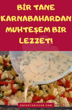 Baked Cauliflower, Cauliflower Recipes, Food Court, Turkish Recipes, Desert Recipes, Vegetable Dishes, Mac And Cheese, Natural Health, Cookie Recipes