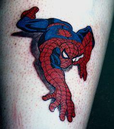 Spiderman tattoo Spiderman Tattoo, Marvel Tattoos, Exotic Tattoos, S Tattoo, Tattoo Inspiration, Tatting, Body Art, Geek Stuff, Climbing