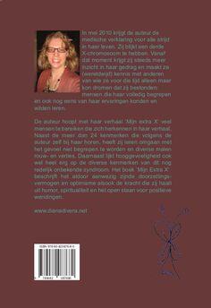 Achterzijde van mijn boek 'Mijn extra X'
