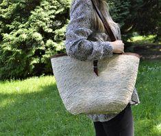 Modern French basket, Summer basket bag Natural Brown, Natural Leather, Brown Leather, French Baskets, Basket Bag, Handmade Home, Leather Handle, Straw Bag, Modern