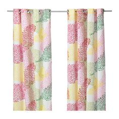 IKEA - MURGRÖNA, Curtains, 1 pair, , The curtains lower the general light level and provide privacy by preventing people outside from seeing directly into the room.The eyelet heading allows you to hang the curtains directly on a curtain rod.