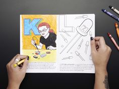 "Coloring book - ""Ladyada's E is for electronics"" $9.95 adafruit"