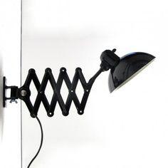 6718 Super Scissor Wall Lamp by Christian Dell for Kaiser Leuchten | #9218
