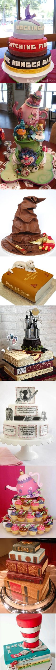 Amazing cakes inspired by the book ........  Visit: http://pinterest.com/okknihovna/book-cake/