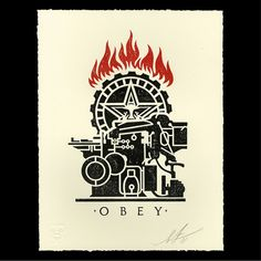 Obey Printing Press Letterpress Avail. 01/23! - Obey Giant