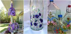 Sticle pictate manual - Ornamente deosebite ce ies din tipare  O modalitate cu totul si cu totul aparte de a face ca sticlele sa arate mai bine este sa le pictam. De asemenea, aceasta activitate este
