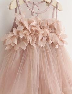 Blush Short Jewel Sleeveless with Patchwork Flower Girl Dress | Fashion | Scoop.it