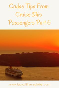 Cruise Tips From Cruise Ship Passengers Part 6
