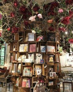 12 Garden Libraries That Are Perfect for Spring Reading is part of Book cafe - Don't worry — there's even a great solution for rainy climates! Beautiful Library, Dream Library, Library Books, Library Home, Books To Read, My Books, I Love Books, Book Cafe, Book Store Cafe