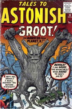 1st appearance of Groot! in Tales to Astonish #13 (Nov '60) cover by Jack Kirby & Steve Ditko