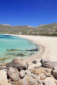 Falassarna beach, Falassarna, Chania (Khania), Crete, Greek Islands, Greece, Europe