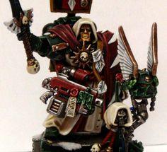 JPG {fun w servo skulls} Warhammer Dark Angels, Far Future, Warhammer 40k Miniatures, Warhammer 40000, Space Marine, Painting Inspiration, The Darkest, Nerdy, Fallen Angels