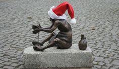 Bacchus sculptures in Zielona Góra, Poland
