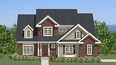 Home Plan HOMEPW77321 - 2795 Square Foot, 3 Bedroom 2 Bathroom Craftsman Home with 2 Garage Bays   Homeplans.com