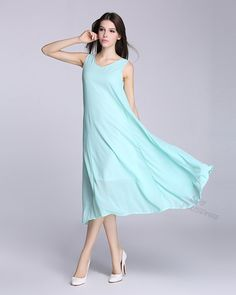ANY SIZE chiffon dress with soft lining maxi dress plus size dress plus size tops plus size clothing summer dress summer clothing