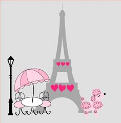 Pink Poodle in Paris build your own vinyl by StickyChicBoutique, $35.00