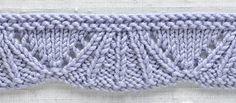 Knit Trim: Umbrella Flouce.  Nice edging for a baby blanket.