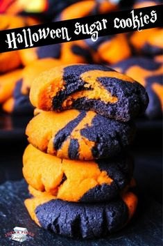 Halloween sugar cookies are easy, cute and perfectly spooky for Halloween! Halloween Cookie Recipes, Halloween Sugar Cookies, Halloween Desserts, Halloween Treats, Holiday Recipes, Soft Sugar Cookies, Yummy Cookies, Spooky Food, Delicious Cookie Recipes