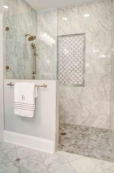 half wall shower enclosures | half wall and frameless