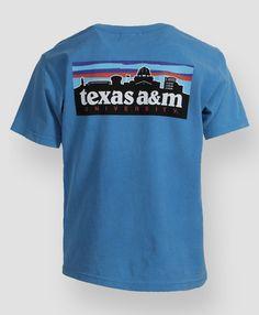 Texas A&M Skyline Youth T-shirt #AggieGifts #FutureAggies