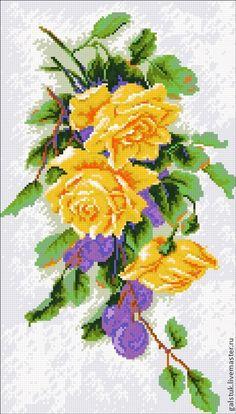 Схема вышивки крестом Желтая роза скачать бесплатно 45