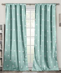 Love this Seafoam Lala & Bash Blackout Curtain Panel - Set of Two on #zulily! #zulilyfinds